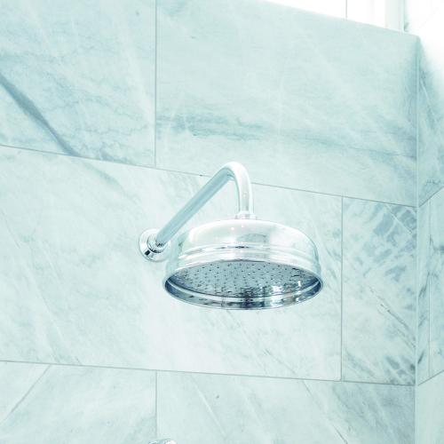 Perrin _ Rowe-« Contemporary Overhead Arm and 8ÔÇØ Shower Rose in Chrome