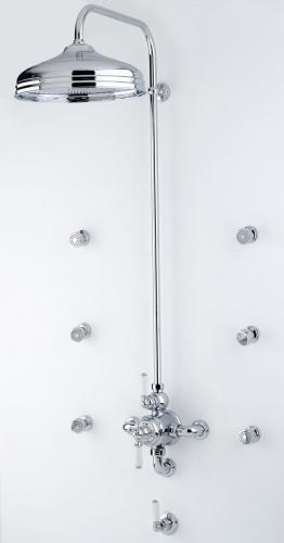 Perrin _ Rowe-« Traditional Shower Set with 12inch Shower Rose in Chrome